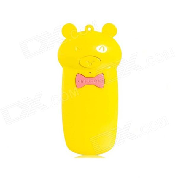Creative Lovely Pig Shape Wireless Bluetooth Shutter Controller for IPHONE 5 + More - Yellow