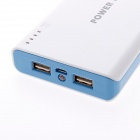 "Kinston KST02478 dupla 5V USB ""20000mAh"" External Battery Power Bank para o dispositivo móvel - branco + azul"