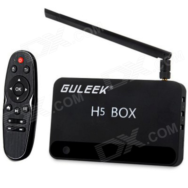 GULEEK H5 Quad-Core 4.2.2 Android Google TV Player w / 2GB de RAM, ROM de 16GB, Wi-Fi, TF (enchufe de la UE)