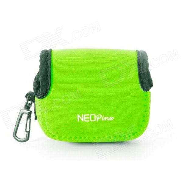 NEOpine Mini Protective Neoprene Camera Case Bag for Gopro Hero 4/ 3+ / 3 / 2 / SJ4000 - Green (S)
