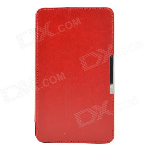 Protective Crazy Horse PU Leather + Plastic Case w/ Stand for Asus FE7010CG - Red protective pu plastic case w stand for 7 asus fe7010cg brown