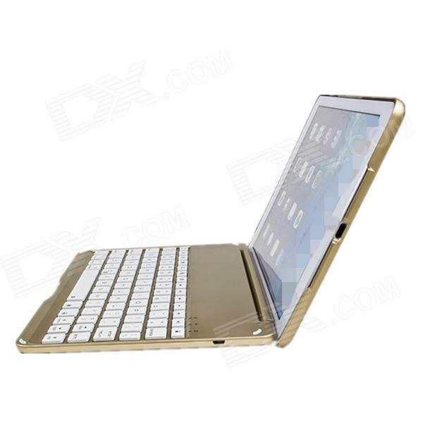 все цены на M-6123 Ultrathin Aluminum Alloy Wireless Bluetooth V3.0 78-Key Keyboard for IPAD AIR - Golden онлайн