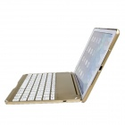 M-6123 Ultrathin Aluminum Alloy Wireless Bluetooth V3.0 78-Key Keyboard for IPAD AIR - Golden