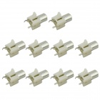 MaiTech 03120348 RCA AV-6 180 Degree 2-pin Audio Jacks - White (10 PCS)