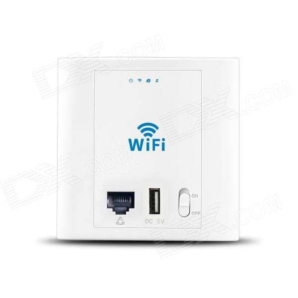 LAFALINK PW300U48 PoE 300Mbps Inwall Panel Wireless Wi-Fi AP w/ USB - White the poe estate
