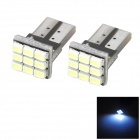Marsing T10 2W 9-SMD 1206 LED 100lm 7000K Cold White Light Car Reading / License Lamp (DC 12V)