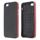 Protective Silicone and Plastic Case for IPHONE 5 / 5S - Black + Red