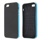 Protective Silicone and Plastic Case for IPHONE 5 / 5S - Black + Blue