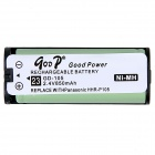"Goop GD-105 Cordless Phone Replacement Rechargeable ""850mAh"" Ni-MH Battery - White"