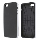Protective Silicone and Plastic Case for IPHONE 5 / 5S - Black + Silver