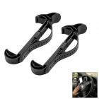 Car Steering Wheel Holder Bracket for Mobile Phone - Black (2 PCS)
