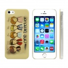 Cartoon One Direction Pattern Plastic Case for IPHONE 5 / 5S - Yellow + Grey