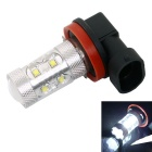 H8 50W 500LM 6000K 10-Cree XBD R3 White LED Foglight/Headlight for Car (DC12~24V)