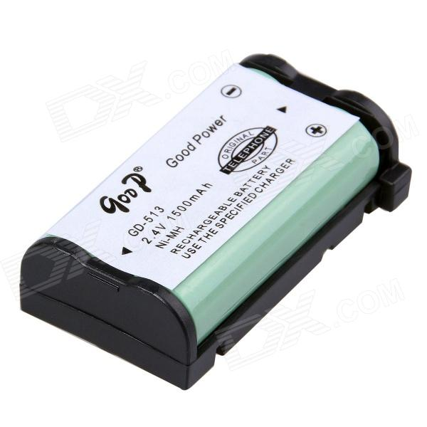 Goop GD-513 Cordless Phone Replacement Rechargeable 1500mAh  Ni-MH Battery - White