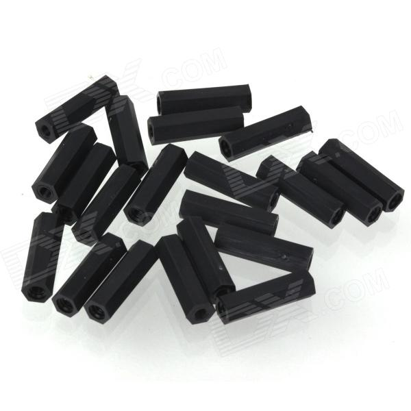 ZnDiy-BRY R203-318 M3 x 18 Nylon Plastic Hexa Pillar Spacer Supporter - Black (20 PCS) 100pcs lot bc639 to 92 639 triode transistor new original free shipping