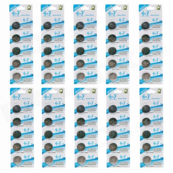 GOOP CR2032 3V Lithium Cell Button Batteries (50 PCS) goop cr2450 3v lithium cell button batteries 5 x 10pcs