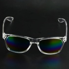 Stylish Resin Lens UV400 Protection Sunglasses - Transparent