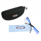 OUMILY Outdoor Cycling PC Sunglasses / Goggles - Transparent + Blue