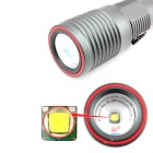 E-SMART Electric Focusing LED 970lm 3-Mode Cool White Light Flashlight - Silver (1 x 18650)