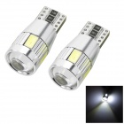 Marsing T10 3W 6-SMD 5730 Decoding White Light LED Clearance / Instrument / License Plate Lamp (12V)