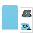Protective PU Leather + PC Flip Open Case w/ Stand for IPAD Mini / IPAD Mini 2 - Blue