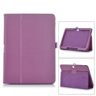 "Protective Flip Open PU Case w/ Stand for 10.1"" Samsung Tab 4 T530 - Purple"