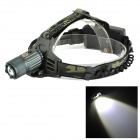 3002-T6 Cree XM-L T6 900lm 3-Mode Electric Adjustable Headlamp - Dark Green + Black (2 x 18650)