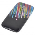Protective Shooting Star Pattern TPU Back Case for Motorola MOTO G / XT1031 - Black + Multicolored