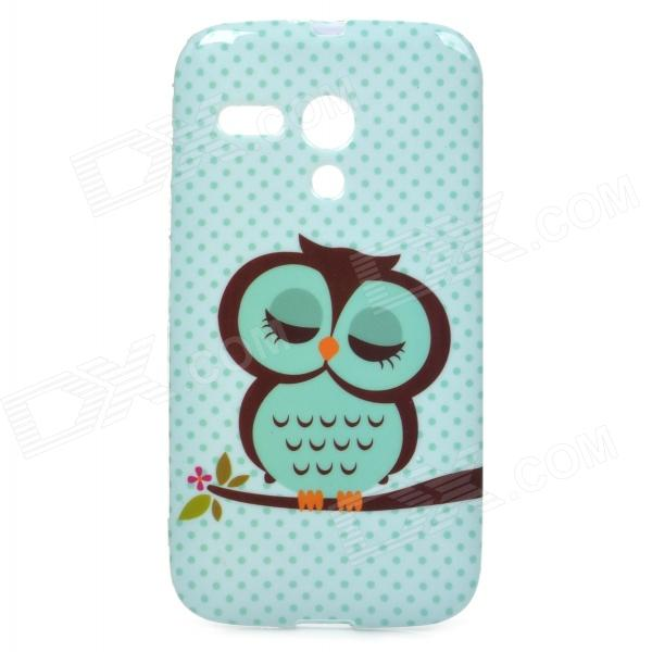 Cute Cartoon Awl Pattern TPU Back Case for Motorola MOTO G / XT1031 - Green + Black tyl motorola moto g xt1032 xt1033 1 for motorola moto g xt1032 xt1033