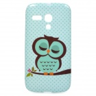 Cute Cartoon Awl Pattern TPU Back Case for Motorola MOTO G / XT1031 - Green + Black