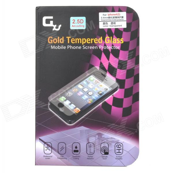 GXS G9 Protective Anti-explosion 0.4mm Tempered Glass Screen Guard for IPHONE 4 / 4S - Transparent