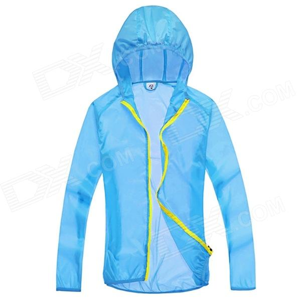 WindTour WT13514 Women's Outdoor Super Light Wight Sun Protection Jacket - Sky Blue (L) blue sky чаша северный олень