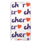 Cute Patterned Plastic Back Case for Samsung Note 3 - Translucent + Purple