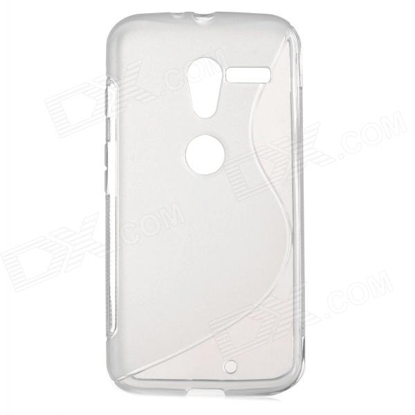 Simple S Pattern TPU Back Case for Motorola MOTO X-phone - Translucent White