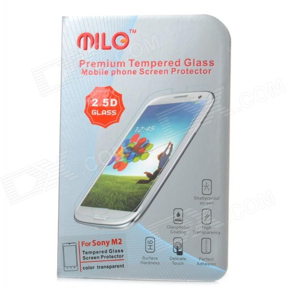 Protective 9H Tempered Glass Screen Guard for Sony M2- Transparent