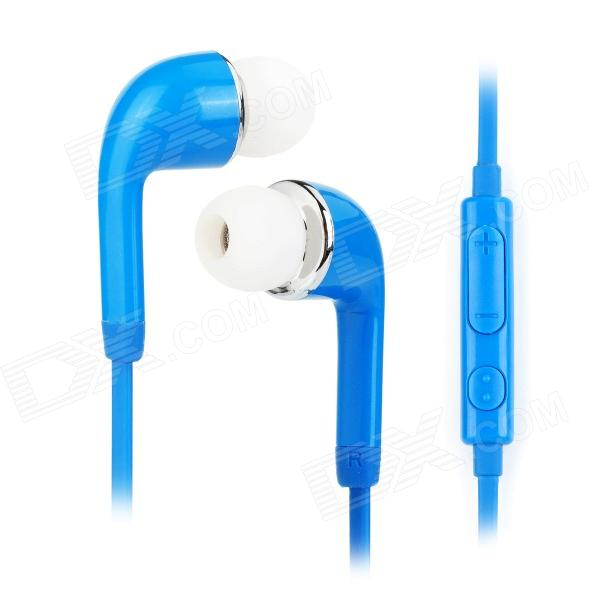 J5 3,5mm Jack In-Ear Earphone w / Mic. Para Samsung Galaxy S5 -Dark Blue