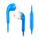 J5 3.5mm In-Ear Style Earphone w/ Microphone for Samsung Galaxy S5 - Deep Blue (120cm)