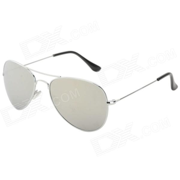 Do DUWEI Stylish Chrome Prata UV400 Lens Motorista Sunglasses - Prata