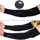NUCKILY E274 Protective Nylon + Spandex Arm Sleeve for Cycling - Black (M)