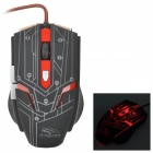R.Horse FC-1700 USB 2.0 filaire LED Gaming Mouse - noir + rouge
