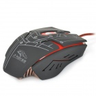 R.horse FC-1700 USB 2.0 Wired LED Gaming Mouse - Black + Red