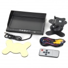 "2-CH Video 1-CH Audio 7"" Car LCD Monitor Display w/ Sun Shield - Black (12~24V)"