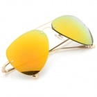 F225 Stylish Frameless UV400 Red REVO Lens Driver's Sunglasses - Silver