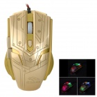 R.horse FC-1700 USB 2.0 Kabel LED Gaming Mouse - Golden