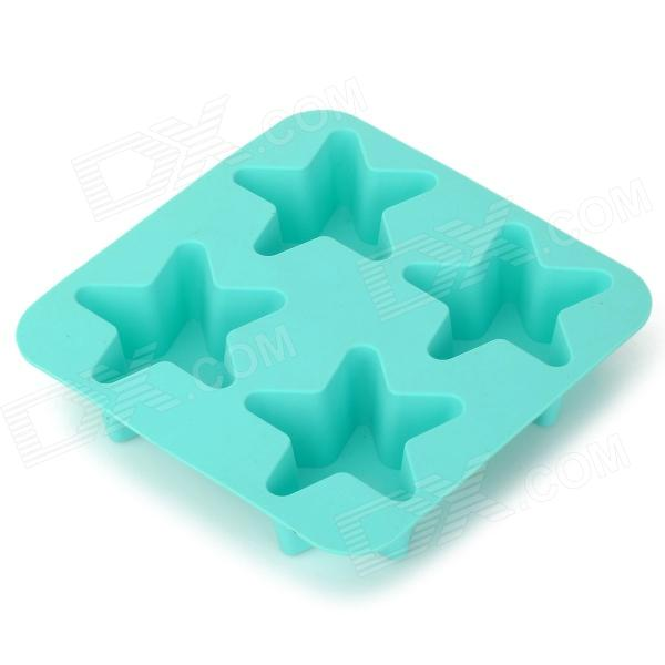 GEl140520 DIY Star Shaped Silicone Ice Cube Tray / Ice Maker Mold - Light Blue silicone skeleton shaped ice cubes trays maker diy mould random color