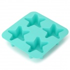 GEl140520 DIY Star Shaped Silicone Ice Cube Tray / Ice Maker Mold - Light Blue
