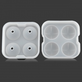 GEl030510 DIY Whisky Ice Ball Organosilicone Mold w/ Cover - White