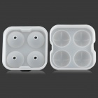 GEl030510 DIY Whisky Ice Ball Organosilicone Mold w/ Cover - Translucent + White