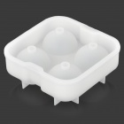 GEl030510 DIY whiskey is ball Organosilicone mold m / deksel - hvit