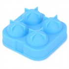 GEl030511 DIY Whisky Ice Ball Organosilicone Mold w/ Cover - Light Blue
